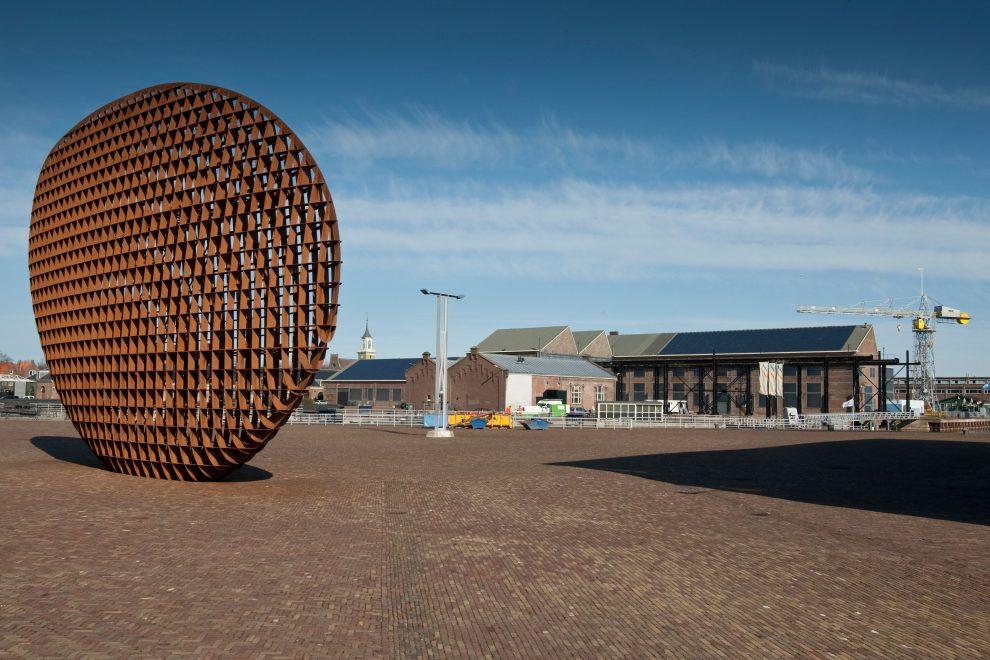 Kunstwerk van Rudi van de Wint op Willemsoord