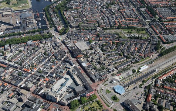 Luchtfoto Beatrixstraat en Stationslocatie