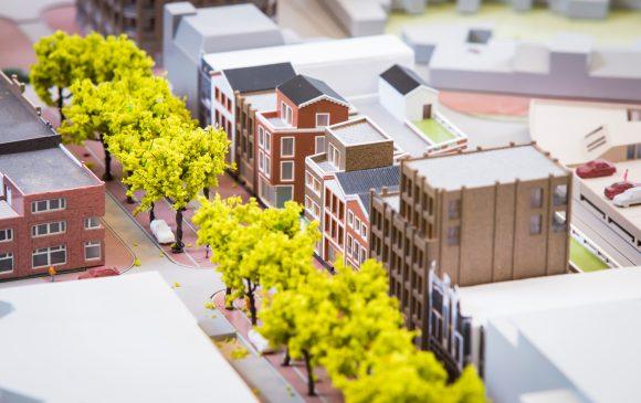 Maquette van De Hofdame aan de Beatrixstraat
