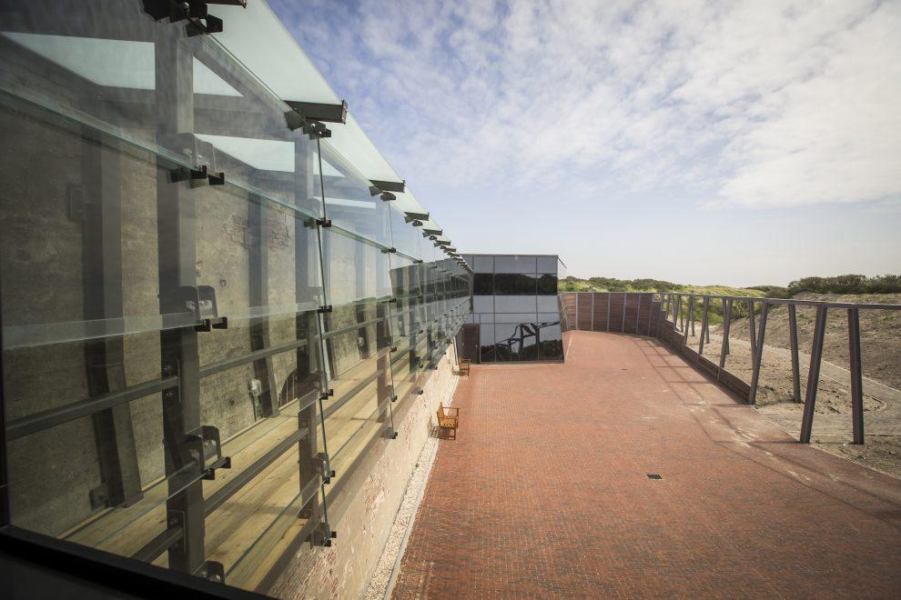 Vernieuwde bastion van Fort Kijkduin