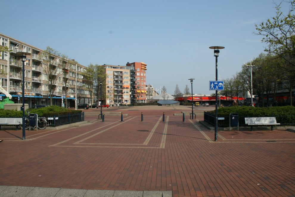 Situatie Julianaplein vóór aanleg Stadspark