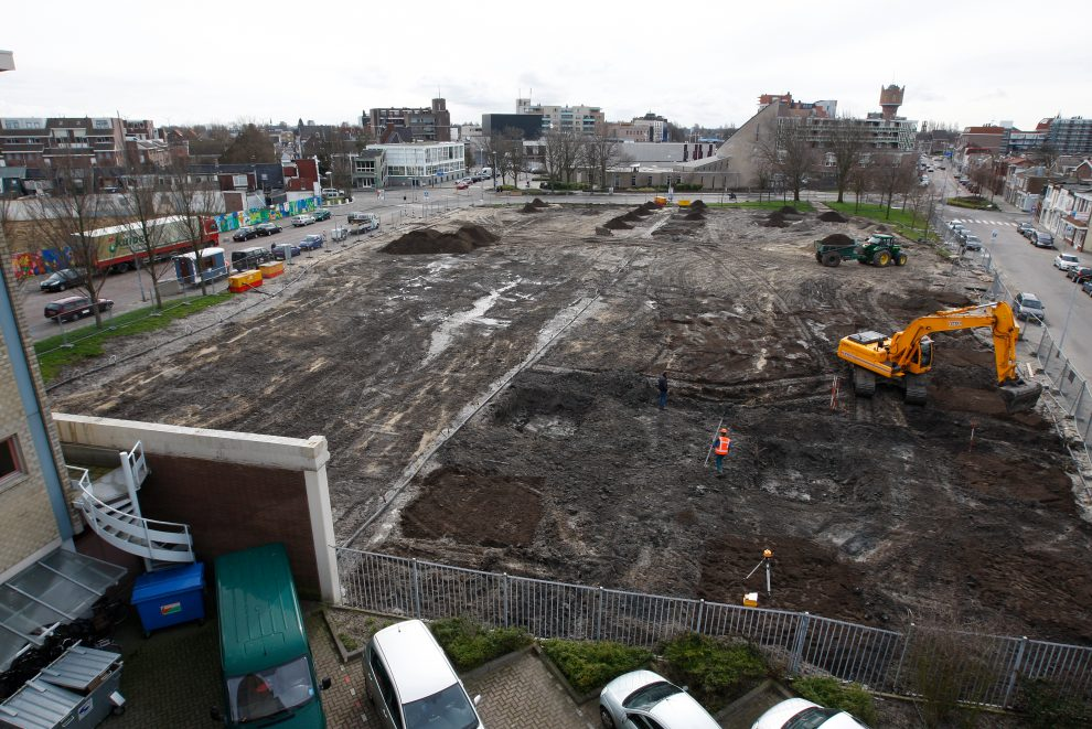 Voorbereiding aanleg Stadspark Polderplein
