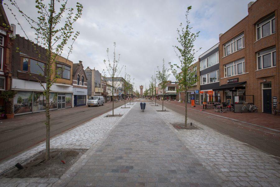 De Beatrixstraat, met uitzicht op de watertoren
